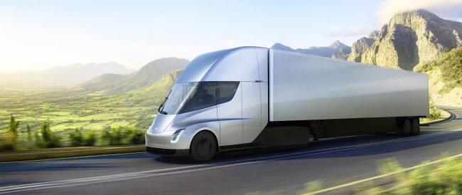 Прототип грузовика Tesla Semi был замечен на дороге