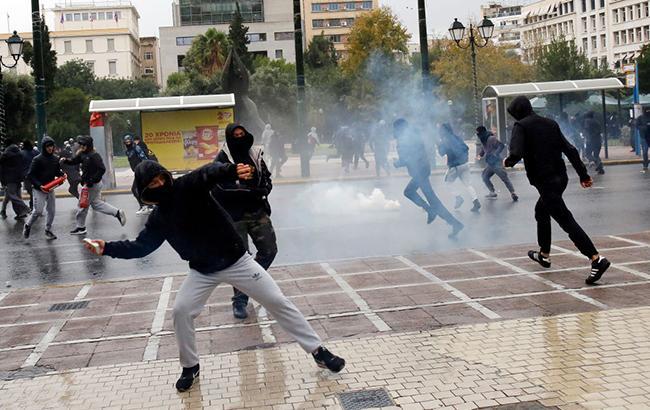 Столкновения с полицией в Греции: полиция задержала 118 протестующих