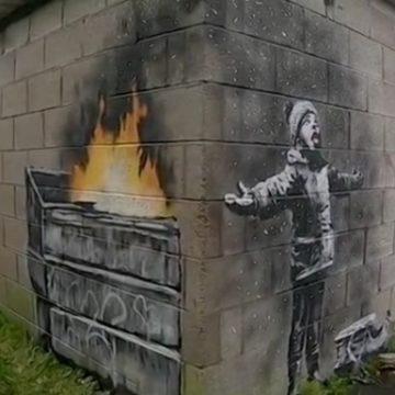 Граффити Бэнкси продали за шестизначную сумму