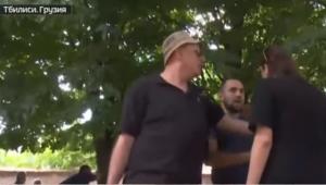 В Тбилиси проучили пропагандистов «Россия 24»: в росСМИ переполох из-за нападения — видео